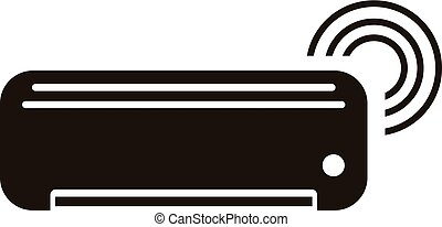 Smart air conditioner icon, simple style - Smart air...