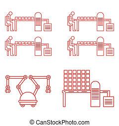 Smart automatic robotic production line.