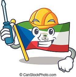 Smart automotive flag equatorial guinea Scroll presented in ...