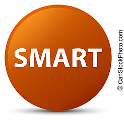 Smart brown round button