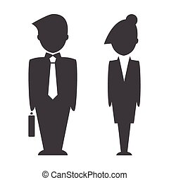 Smart business people icons.