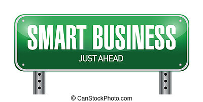 smart business road sign illustration design