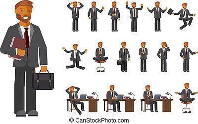 Smart businessman character