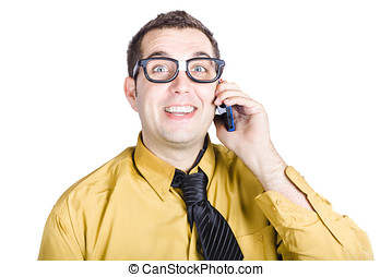 Smart Businessman with mobile phone