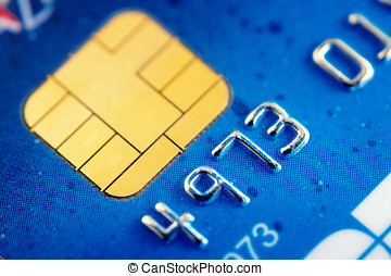 Smart card super macro , credit card chip