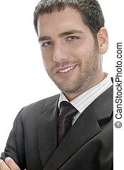 smart caucasian businessman