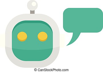Smart chatbot icon, flat style