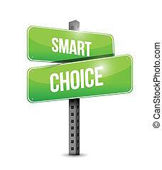 smart choice sign illustration design