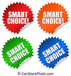 Smart choice stickers