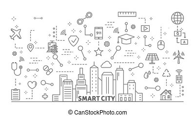 Smart city animation.