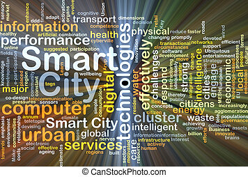 Smart city background concept glowing - Background concept...