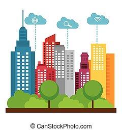 smart city design vector clip art eps images 2 516 smart city rh canstockphoto co uk city clipart free download city clipart free