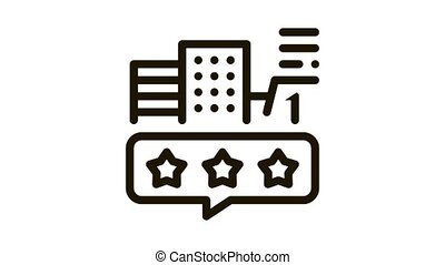 smart city review Icon Animation. black smart city review animated icon on white background