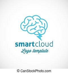 Smart Cloud Abstract Vector Logo Template