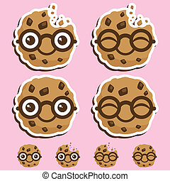 Smart cookie - Vector illustration of a smart cookie.