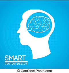 smart design over blue background vector illustration