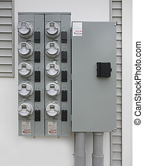 Smart electric utility meters for an apartment complex