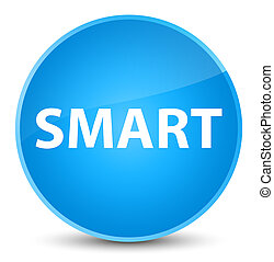 Smart elegant cyan blue round button