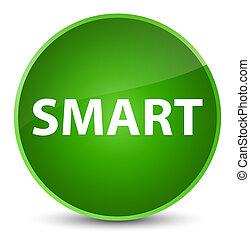 Smart elegant green round button