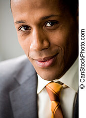 Smart employer - Portrait of successful white collar worker...