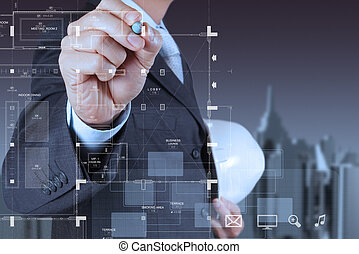 smart engineer working on newtechnology
