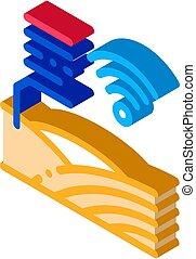 Smart Farm isometric icon vector illustration