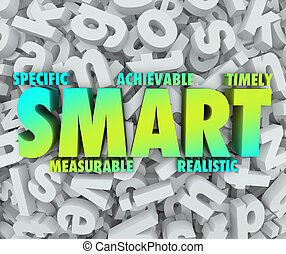 Smart Goal Criteria Objectives Specific Achievable Mission ...