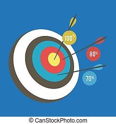 Smart goal setting business concept.