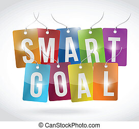 smart goal tags illustration design over a white background
