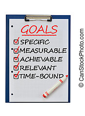 Smart goals concept on clipboard