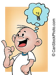 Smart guy 02 - A little boy solving a problem