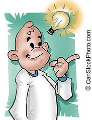 Smart guy - A boy getting a good ideia