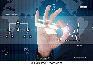 hand showing futuristic technology