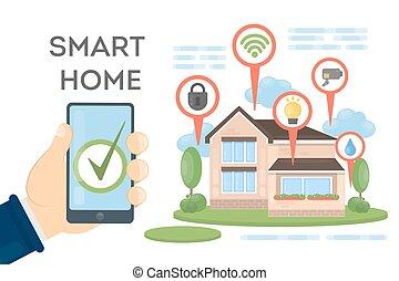 Smart home concept.
