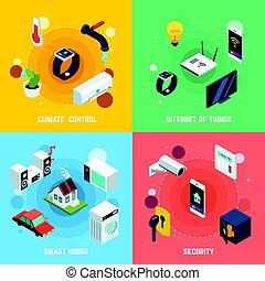Smart Home Concept Icons Set