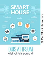 Smart Home Concept Infographics Modern House Technology ...