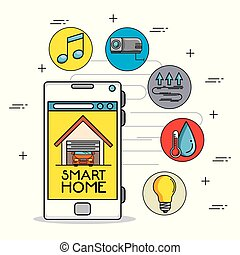 smart home control concept