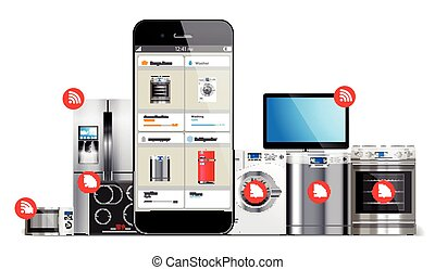 Smart home control system - kitchen and house appliances:...
