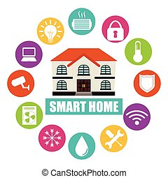 smart home design, vector illustration eps10 graphic