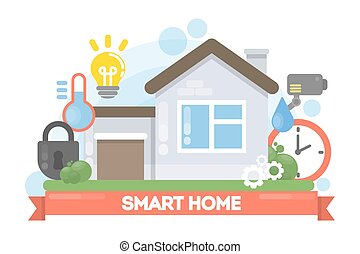 Smart home illustration.
