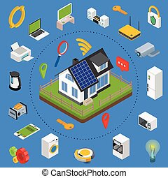 Smart home. Isometric design style vector illustration ...