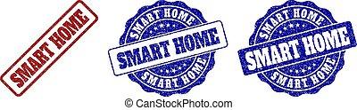 SMART HOME Scratched Stamp Seals