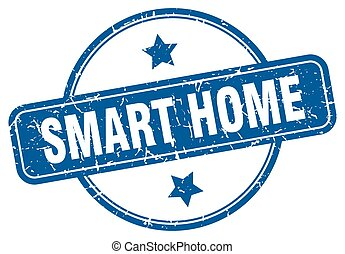 smart home stamp. smart home round vintage grunge sign. smart home