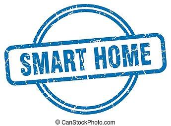 smart home stamp. smart home round vintage grunge sign. smart home