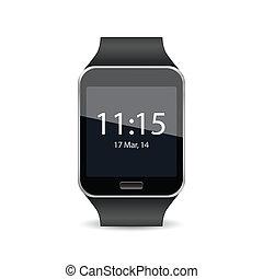 smart, horloge, vector, illustratie