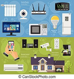 Smart House and Internet of Things Banners