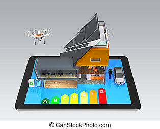 Smart house and tablet PC