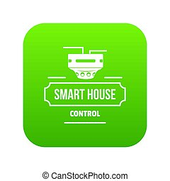Smart house icon green