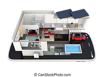 Smart house on a smartphone - Energy-Efficient house...