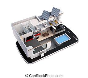 Smart house on a smartphone